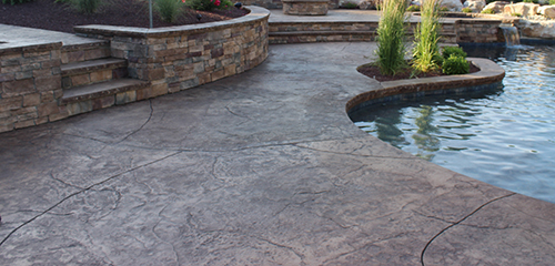 Decorative stamped concrete and masonry photo